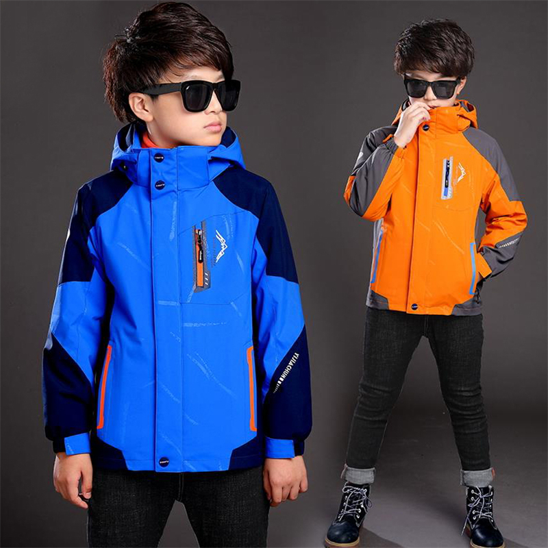 Boys 2017 autumn and winter section thickening jacket children wear Jackets plus cashmere triple new large