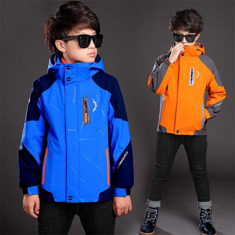 Обувь для мальчиков 2017 Осень и зима раздел утепленная куртка детская одежда Куртки плюс кашемир Трехместный новый большой хлопчатобумажно...