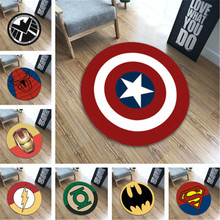 Hot Sale New Polyester Anti-slip Ball Round Carpet Computer Chair Pad Captain America Living Room Mat Children Bedroom Rugs
