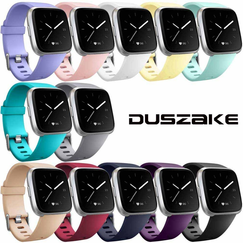 Duszake Strap For Fitbit Versa Lite Band For Fitbit Versa Edition Soft Silicone Strap Replacement Wristband For Fitbit Versa