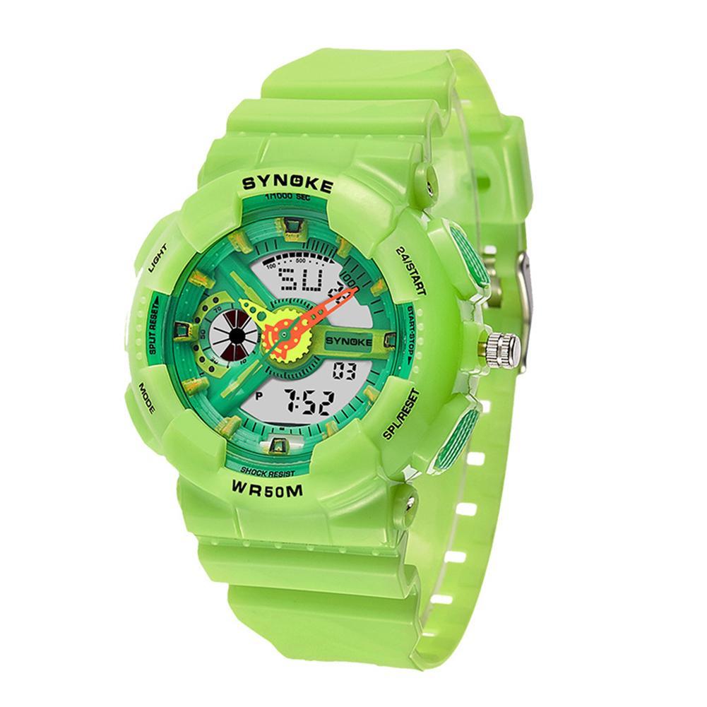 Kids Boys Girls Sports Wrist Watch Bright Color Electronics Watch Kids Alarm Stopwatch Students Digital Wrist Watch