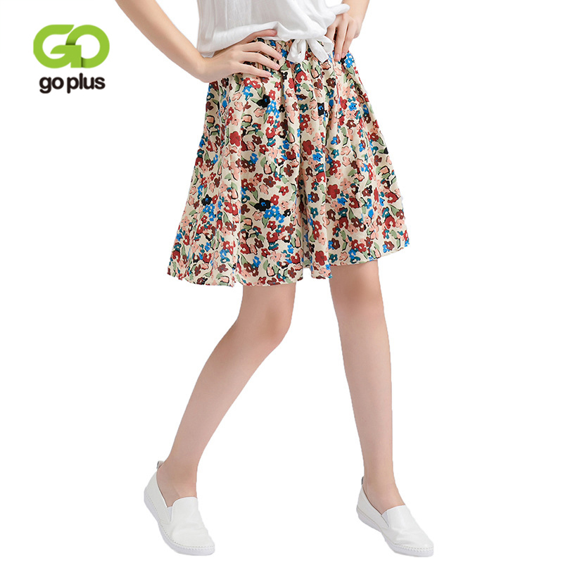 GOPLUS Summer Fashion Floral Print Skirt Women High Waist Sexy mini Skirts plus size befree Beach Saia Female Boho Madi Skirt
