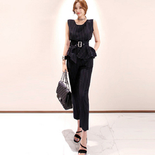 Elegant Striped Women Suits Two Piece Set 2019 Spring Summer Office La
