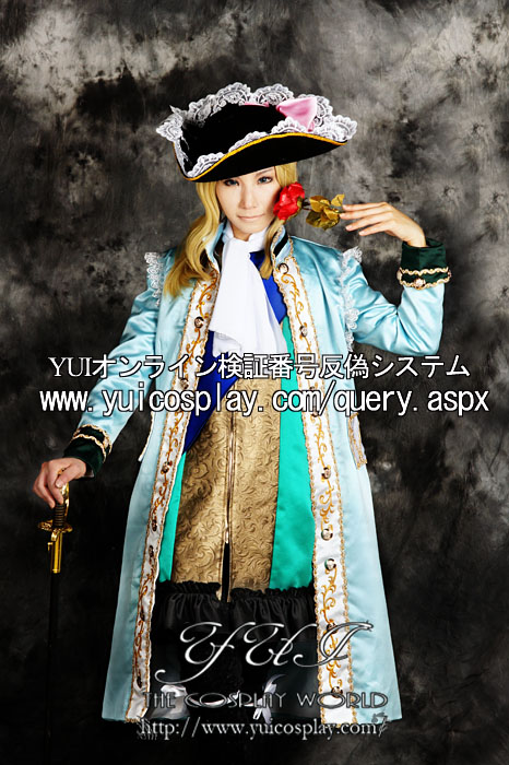 Axis Powers hetalia France Cosplay Costume with hat Custom Any Size