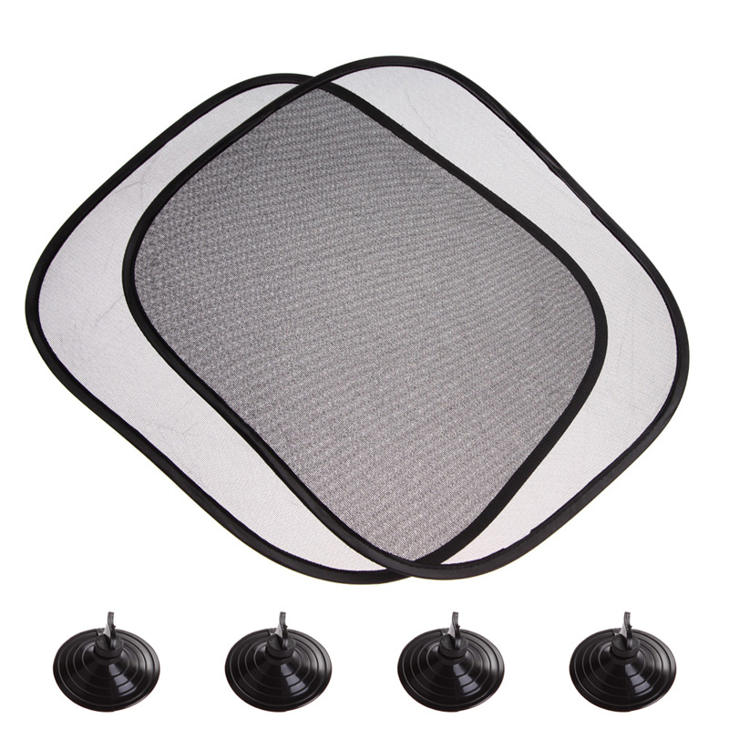 2Pcs/set 44*36cm Black Car Sun Shade Side Rear Window Glass Sunshade Cover Visor Shield Screen Solar Protection Auto Accessories