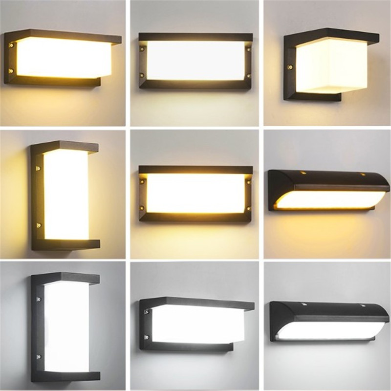 led light outdoor motion sensor wall lamp sconces
