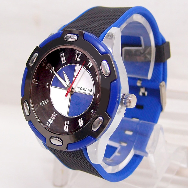 New Fashion Brand Wrist Watches Men Women Sports Watches Quartz  BMW Silicone Jelly Wristwatches Stylish
