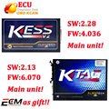 V2.30 V4.036 Firmware da unidade principal + KTAG KESS V2 V2.13 FW V6.070 unidade principal Programador ECU Ferramenta Sem Tokens Limitada navio livre