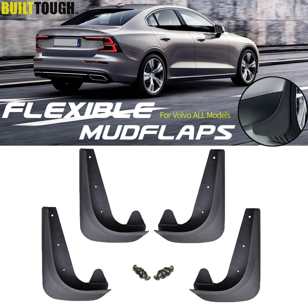 Set Universal Mudflaps Mud Flaps Splash Guards Mudguards For Volvo C30 S40 S60 S70 S80 V40 V50 V60 V70 XC60 XC70 XC90