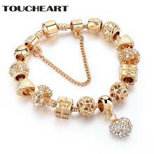 Женский браслет ручной работы toucheart ювелирное изделие золотистого