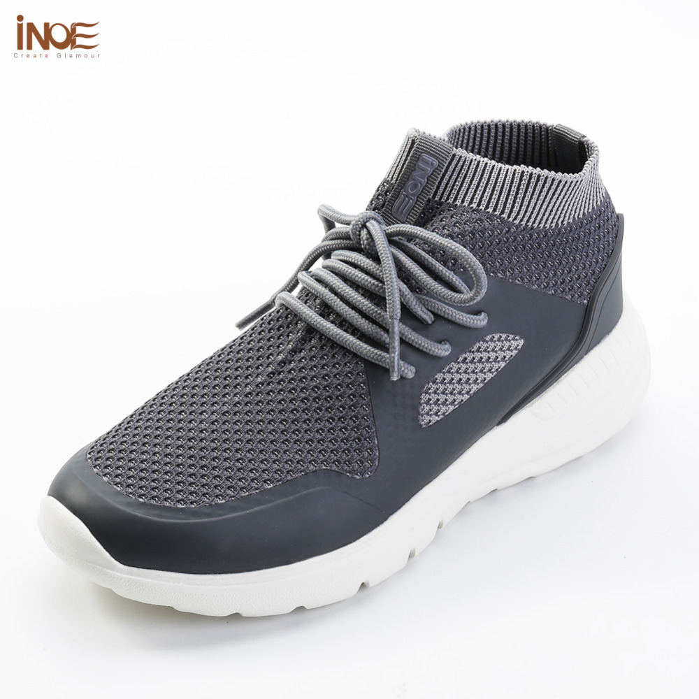INOE 2018 new fashion style man summer shoes air mesh for men sneakers non-slip & light sole breathable grey black 36-44 slip-on contemporary modern japanese american style triangle kitchen light house lighting led ceiling lamp for teens bedroom dining room
