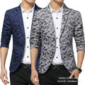 free shipping men suit jackets 2016 new fashion floral blazer slim 2 buttons Camouflage clothing casual printed blazer masculino