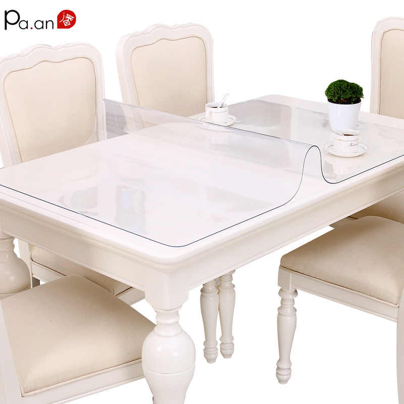 Водонепроницаемый прозрачный ПВХ крышка стола мягкая пластиковая стеклянная скатерть кофейный коврик Хрустальная пластина анти-скальдинг маслостойкий