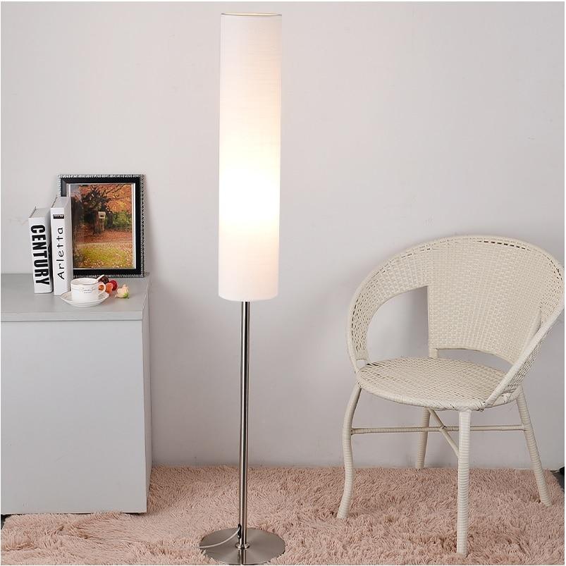 Japan Design Floor Lamp With Tube Shade, Extendable Rod 130-180cm