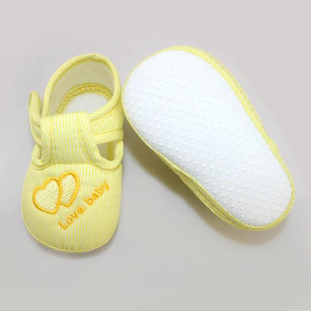 Cotton Lovely Baby Shoes Toddler Unisex Soft Sole Skid-proof 0-12 Months Kids Infant Shoes Newest 2019 5