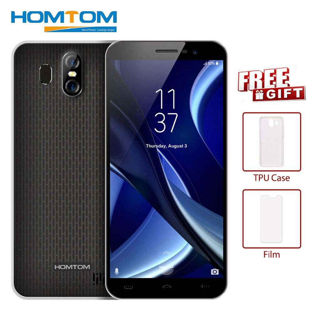 D'origine HOMTOM S16 3g Smartphone 5.5 pouce 2 gb + 16 gb Mobile Téléphone Android 7.0 MTK6580 Quad- core 1.3 ghz 13.0MP 3000 mah Téléphone Portable