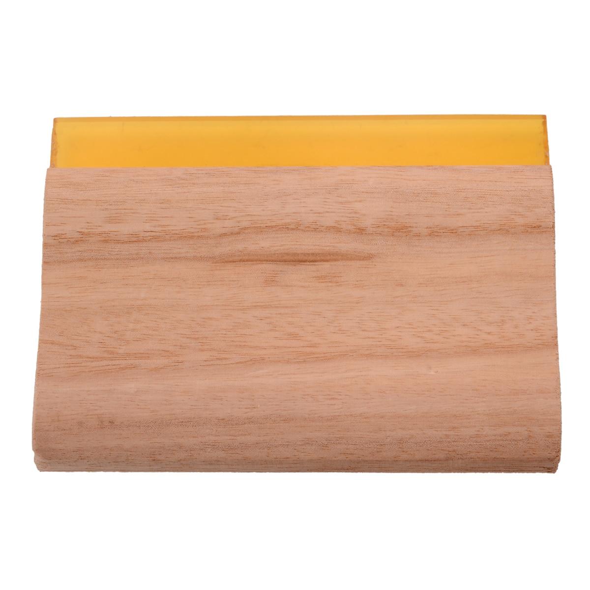 6 hüvelykes hosszúságú szitanyomás kacsák fa fogantyúval, selyem kézműves szitanyomás kaparó festékkaparó pengével