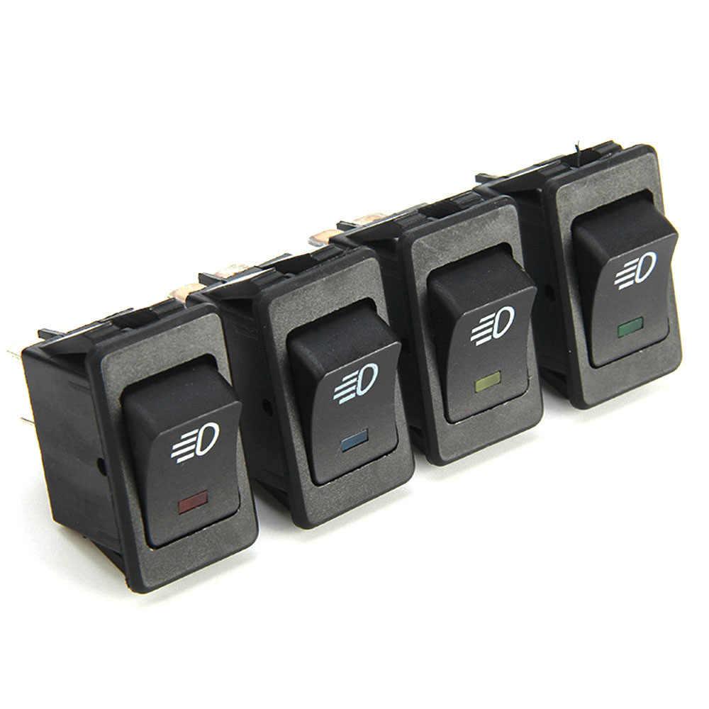 ملحقات سيارة عالمية 12 فولت 35A لتصفيف السيارة ، مفتاح التبديل لضوء الضباب ، لوحة القيادة LED زرقاء ، 4 دبابيس لرينو سينك 2