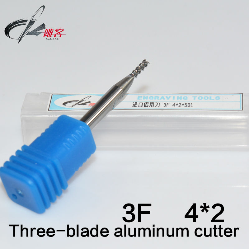 5pcs Drill CNC 3 Three 3f Flute Spiral Router Endmill Bit cutter milling tool Metal Aluminum Copper HRC55 4*2*50MM  цены