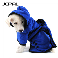 JCPAL Pet Bathrobe Towels Super Dry Quickly Absorbing Water Ultra Soft Microfiber Blue Coffee Bath Robe For Dog Cat Pet Supplies