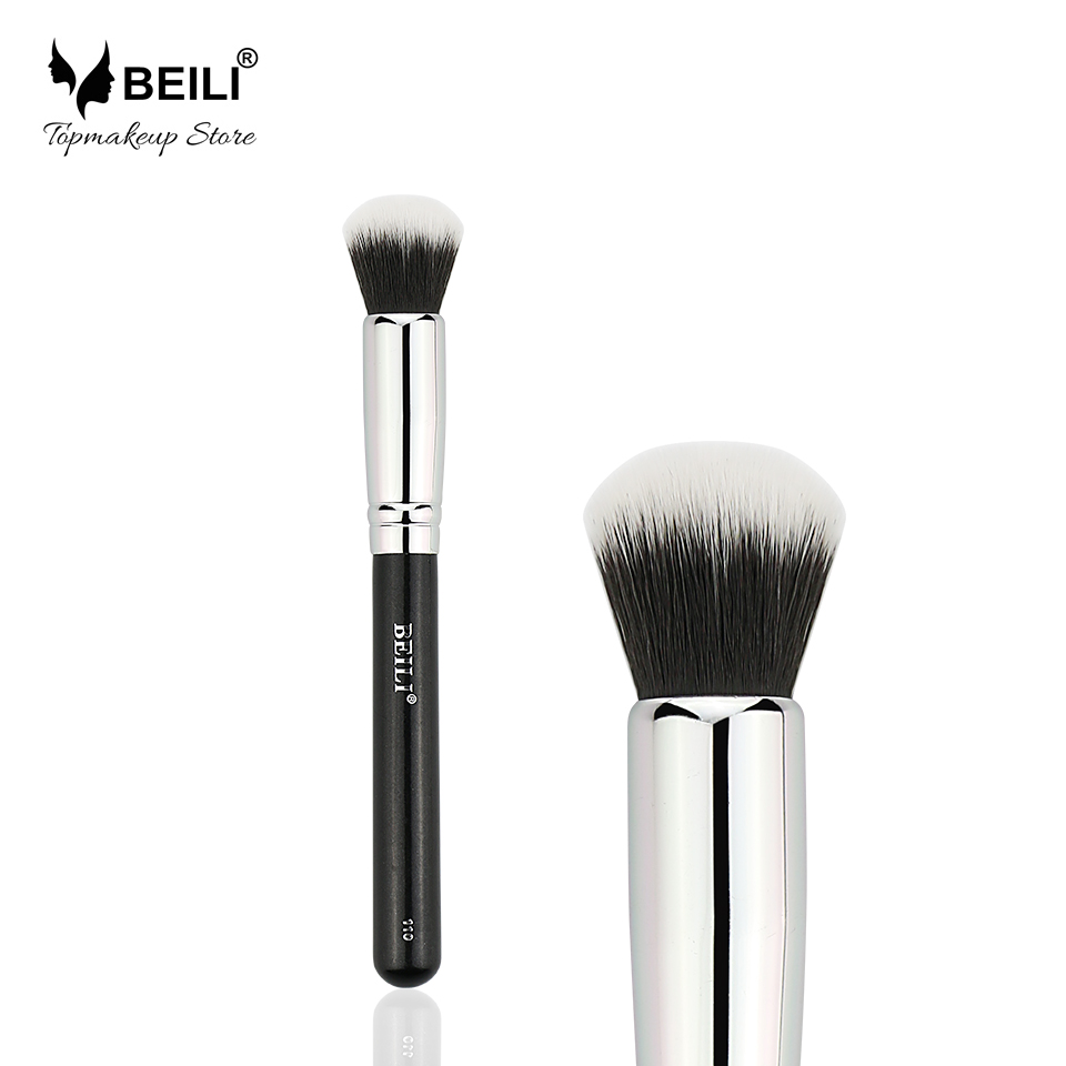BEILI Black 110 Single Synthetic Hair Contour Concealer Foundation Makeup Brushes menu чаша black contour