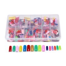 540 Pcs 27 Color French False Acrylic Gel Nail Art Tips Half with Box Salon Set