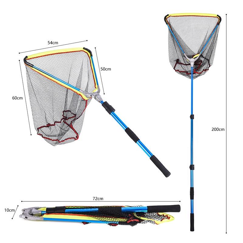 rede de pesca dobravel dobravel liga de aluminio alca longa telescopica pesca redes de pouso b2cshop
