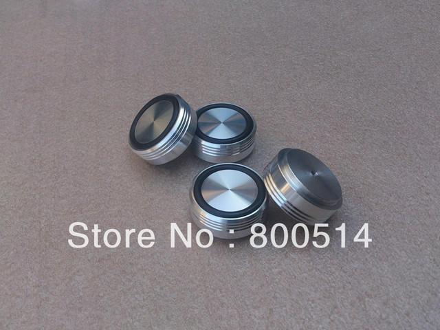 4pcs aluminum machine feet  amp case foot --silver     Diameter: 39mm, high: 17mm   --#0506-1