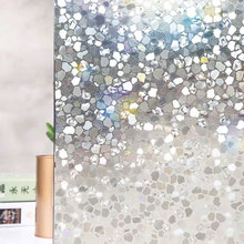 3D static window foil film Stained crystal stone Frosted glass stickers Self-Adhesive PVC on the table Decorative 60*500cm
