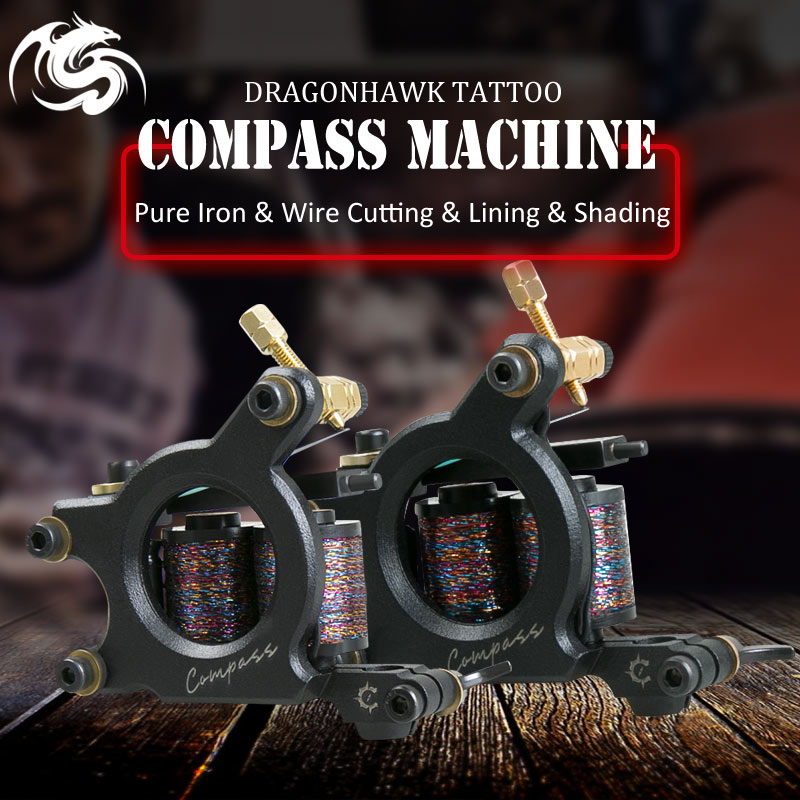 все цены на High Quality Coil Tattoo Machine 11 Warp Coil Tattoo Guns For Shader&Liner Wrap Coils Guns Tattoo Supply Free Shipping онлайн
