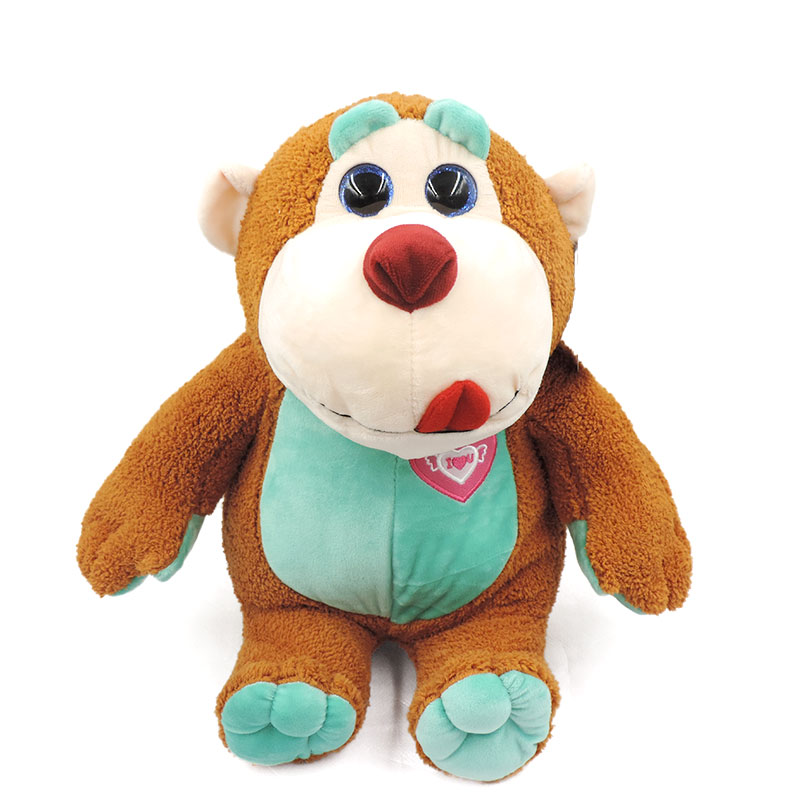 40CM Kawaii Big Eyes Monkey Stuffed Animals Dolls High Quality Plush Soft Kids Toys Cartoon Peluche Children Gifts Collection