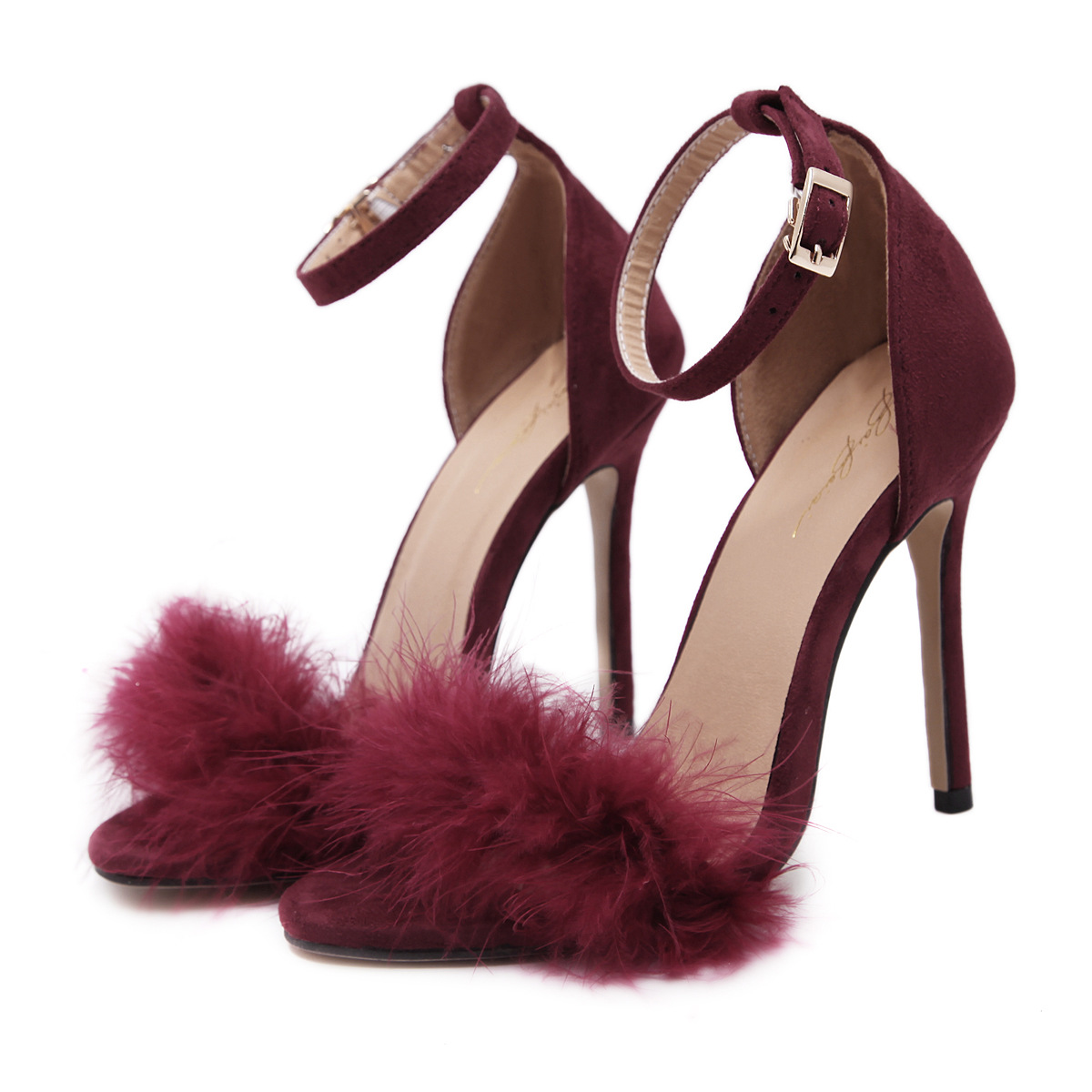 ФОТО  name with the same section of the high heel shoes with a pair of sandals buckle shoes, women's shoes, 42 yards shoes