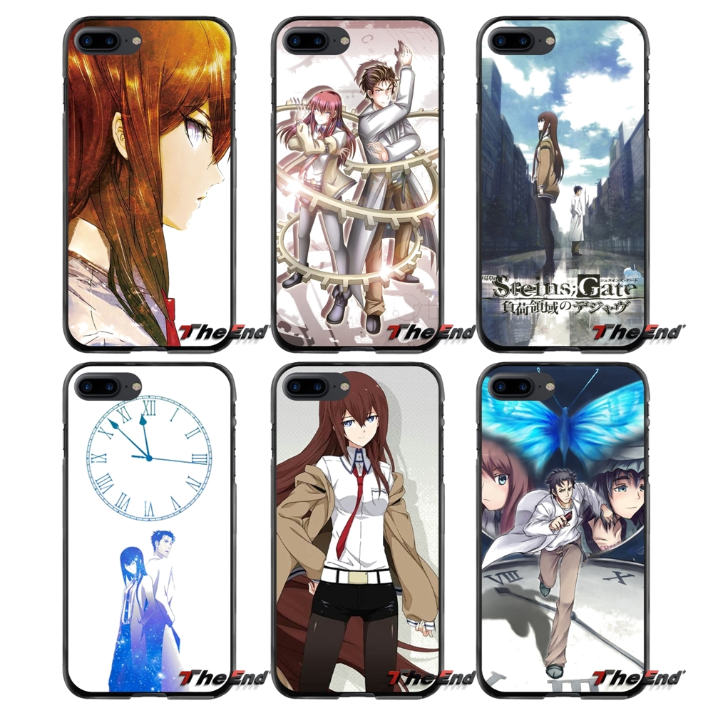 For Apple iPhone 4 4S 5 5S 5C SE 6 6S 7 8 Plus X iPod Touch 4 5 6 fashoin game Steins Gate Accessories Phone Shell Covers
