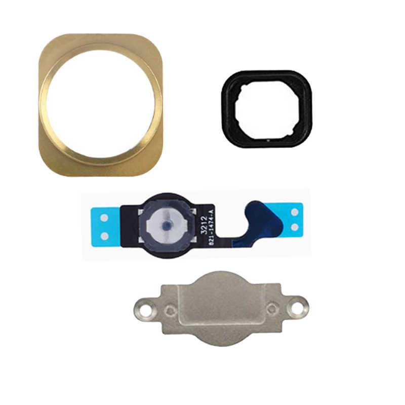 4 sztuk/partia dla iPhone 5 5G 5C przycisk Home Flex przycisk Menu z Flex Cable Key Cap czarno-biały