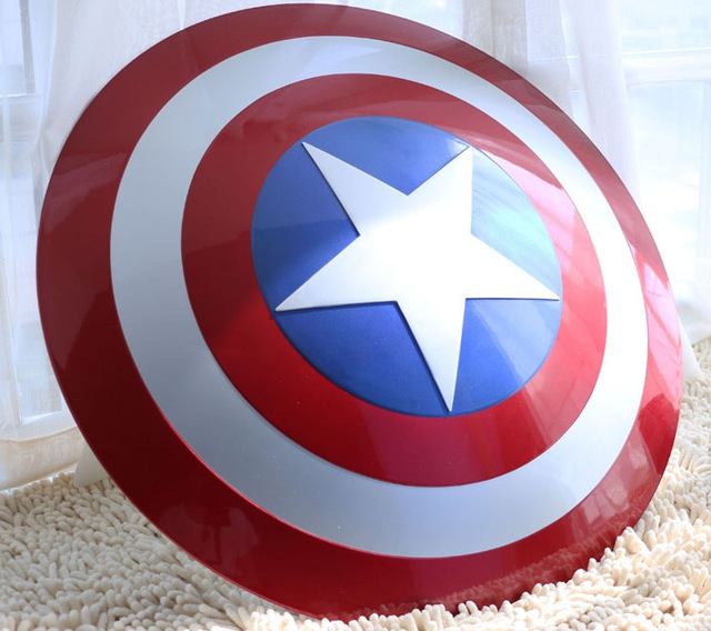 The Avengers Civil War Captain America Shield 1:1 1/1 Cosplay captain america Steve Rogers ABS model adult shield replica metal colour the avengers civil war captain america shield 1 1 1 1 cosplay steve rogers metal model shield adult replica wu525