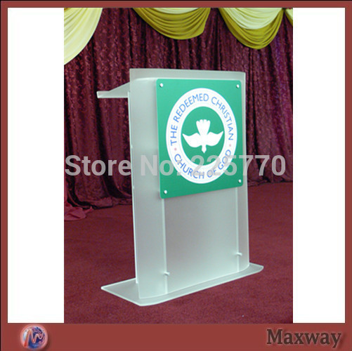 church acrylic podium/Acrylic frosted glass plate with screen printing lectern church lecternchurch acrylic podium/Acrylic frosted glass plate with screen printing lectern church lectern