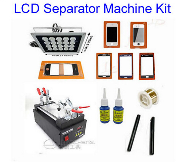 Best price!  LY 948L LCD touch screen separate machine with OCA accessories kit free shipping screen repair machine kit ly 946d lcd separator for 5 inch mobile screen 12 in 1 separate machine