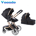 Voondo Passeggino disponibile, reclinabile e pieghevole, di alta e portatile, due lati neonato ammortizzatore 0-4 mesi di bambino passeggino