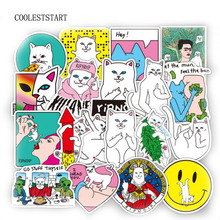 50pcs 1lot Funny Ripndipp Sticker Creative Personality Waterproof Rip N Dip Laptop Sticker for Finger Skateboard