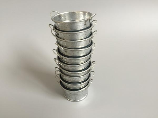 100pcslot d55h3cm vintage nostalgia mini iron can milk tin bucket succulents planter small flower pot