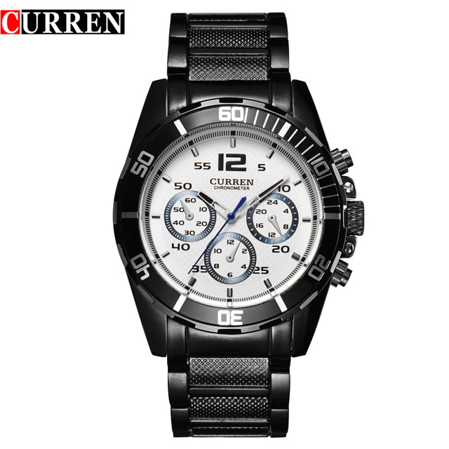 CURREM 2016 new fashion Curren brand men casual stainless steel wrist quartz watch 8073 2016 new men fashion