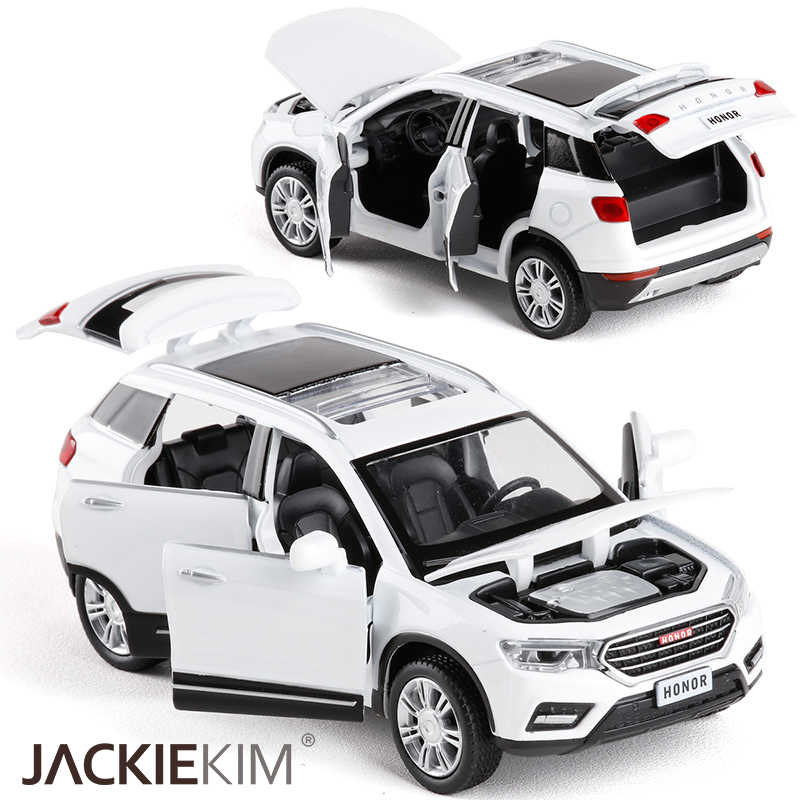 1/32 Scale HAVAL H6 Metal Alloy Diecast Car Model Miniature Model Sound Light Model Car Toys For Children