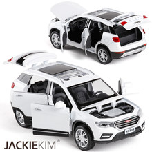 1/32 Scale HAVAL H6 Metal Alloy Diecast Car Model Miniature Model Sound Light Model Car Toys For Children(China)