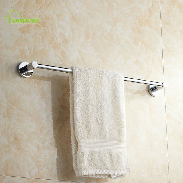 Modern Silver Brass Wall hanging Bathroom Towel Towel Rod Bathroom