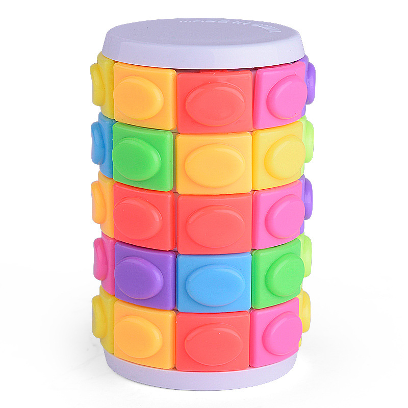 Educational Three-dimensional Puzzle Magic Cubes Tower Cube Five Layer Puzzle Decompression Cube Toy for Children Adult
