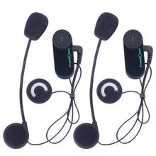 FreedCoon 2×800 M 3 Jinetes de La Motocicleta BT Intercom Bluetooth Motocicleta Intercomunicador Inalámbrico de Altavoces Hi-Fi Auriculares Casco