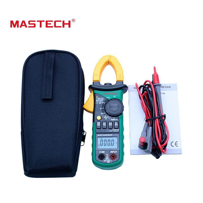 Mastech MS2108A Digital Clamp Meter Auto range Multimeter AC 400A Current Voltage Frequency clamp MultiMeter Tester BackMastech MS2108A Digital Clamp Meter Auto range Multimeter AC 400A Current Voltage Frequency clamp MultiMeter Tester Back