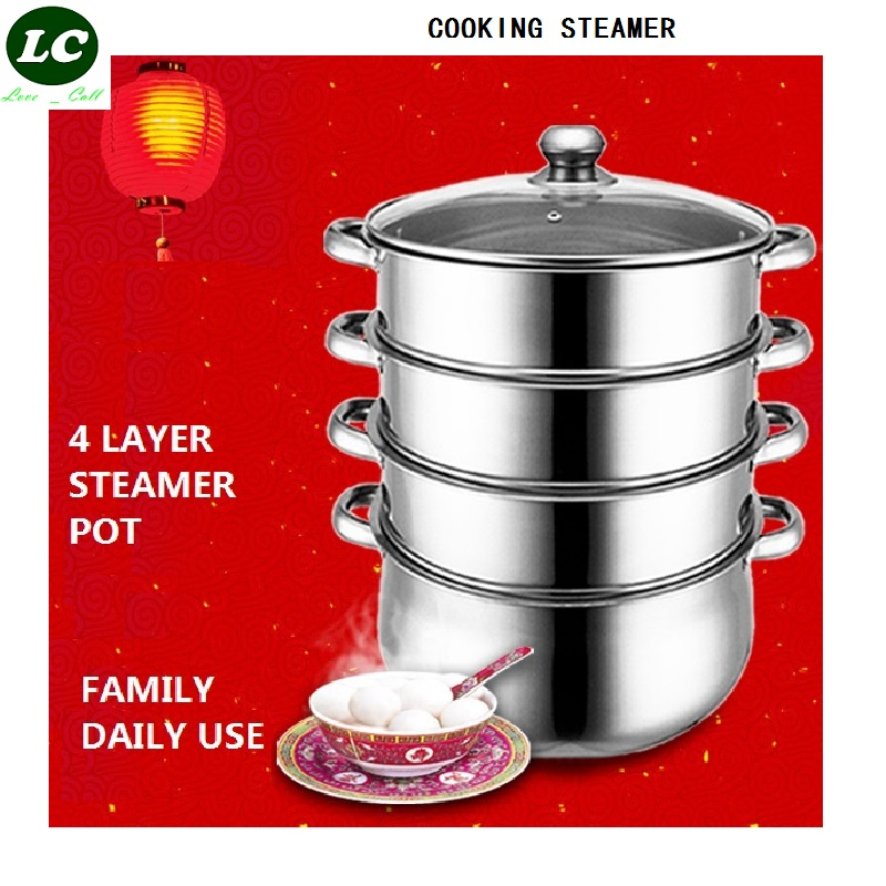 FREE SHIPPING 4 LAYER 28CM STEAMER POT INOX COOKING POT  stainless steel STEW POT WITH STEAMER DRAW  capsuled bottomFREE SHIPPING 4 LAYER 28CM STEAMER POT INOX COOKING POT  stainless steel STEW POT WITH STEAMER DRAW  capsuled bottom