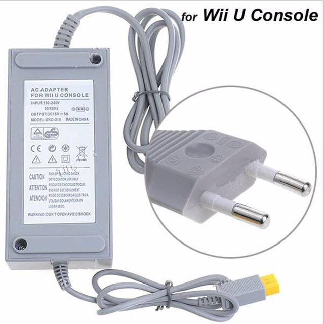 Game Controller joypad AC Adapter 100-240V DC15V 5A Home Wall Power Charger With EU Plug for Nintendo WiiU WU Console Host