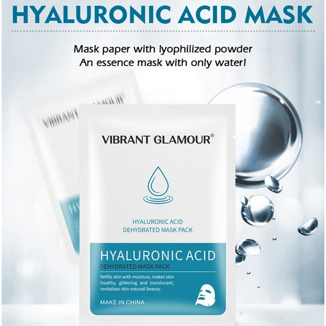 Máscara Facial de ácido hialurónico VG máscara hidratante para el cuidado de la piel Facial